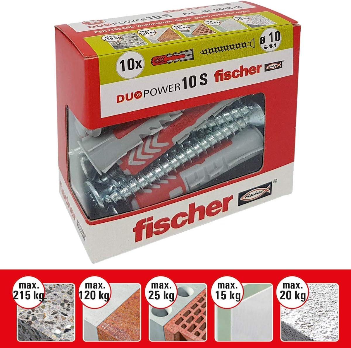 Grey Fischer 542457/Dowel with Screw UX 10/x 60/mm Set of 20/Pieces