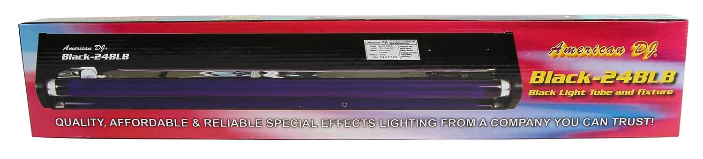 4 AMERICAN DJ BLACK-24BLB 24 UV Black Pro Blacklight Dorm Party Light Fixtures