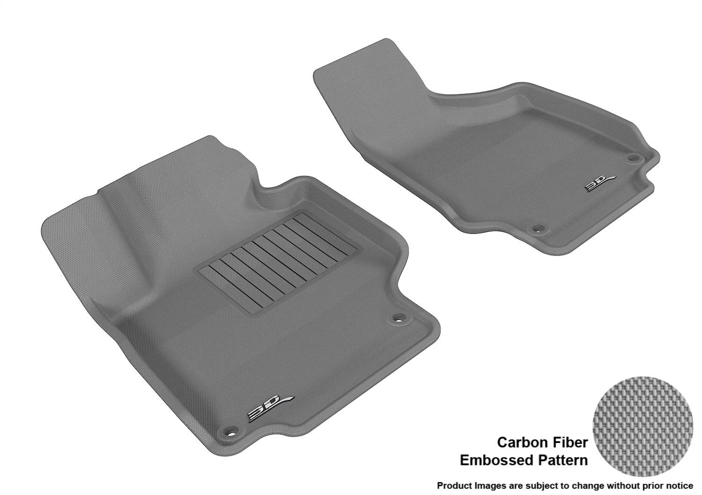 3D MAXpider L1AD02911501 Custom Fit All-Weather Kagu Series Floor Mats Gray Front Row for Audi Tts Models