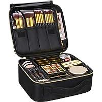 Samtour Makeup Case Travel Makeup Bag Makeup Train Case Cosmetic Bag Toiletry Makeup Brushes Organizer Portable Travel…