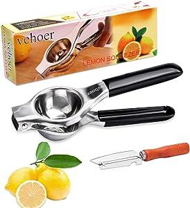 Manual Juicer Citrus Lemon Squeezer: Lime Juicer Press with Stainless Steel - Fresh Fruits Squeezer for Grapefruit | Watermelon | Pomegranate | Lime | Lemon | Orange Juicer