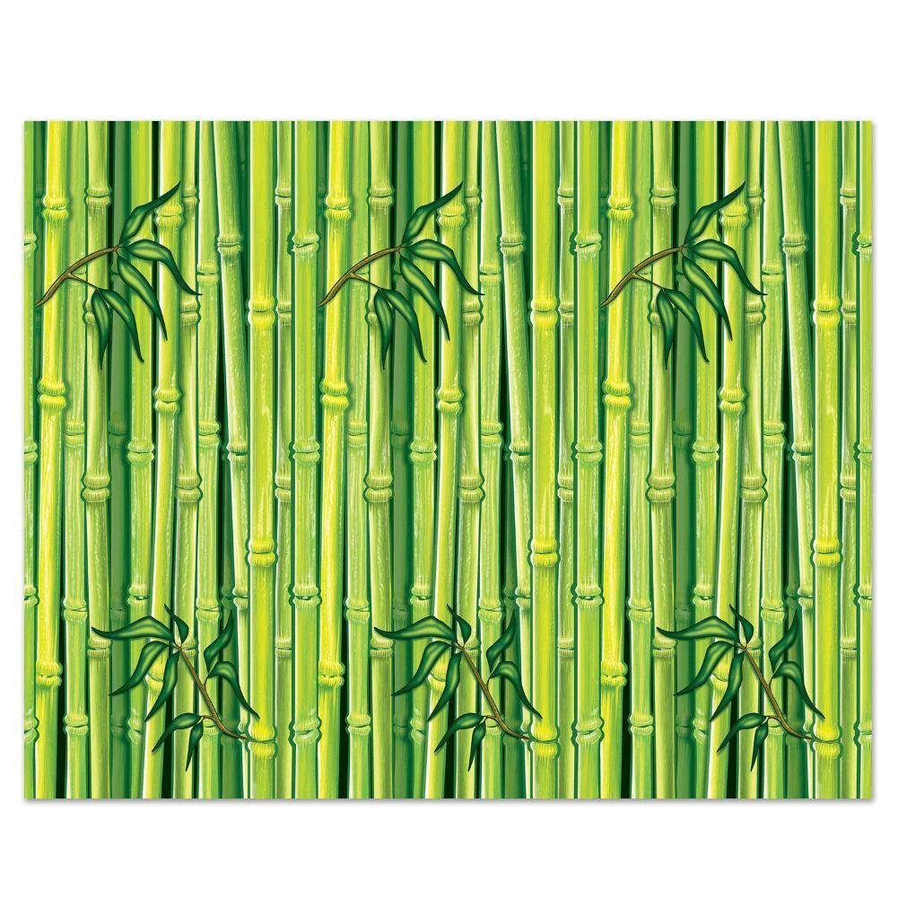 Beistle Bamboo Backdrop, 4 by 30-Feet, Multicolor by Beistle