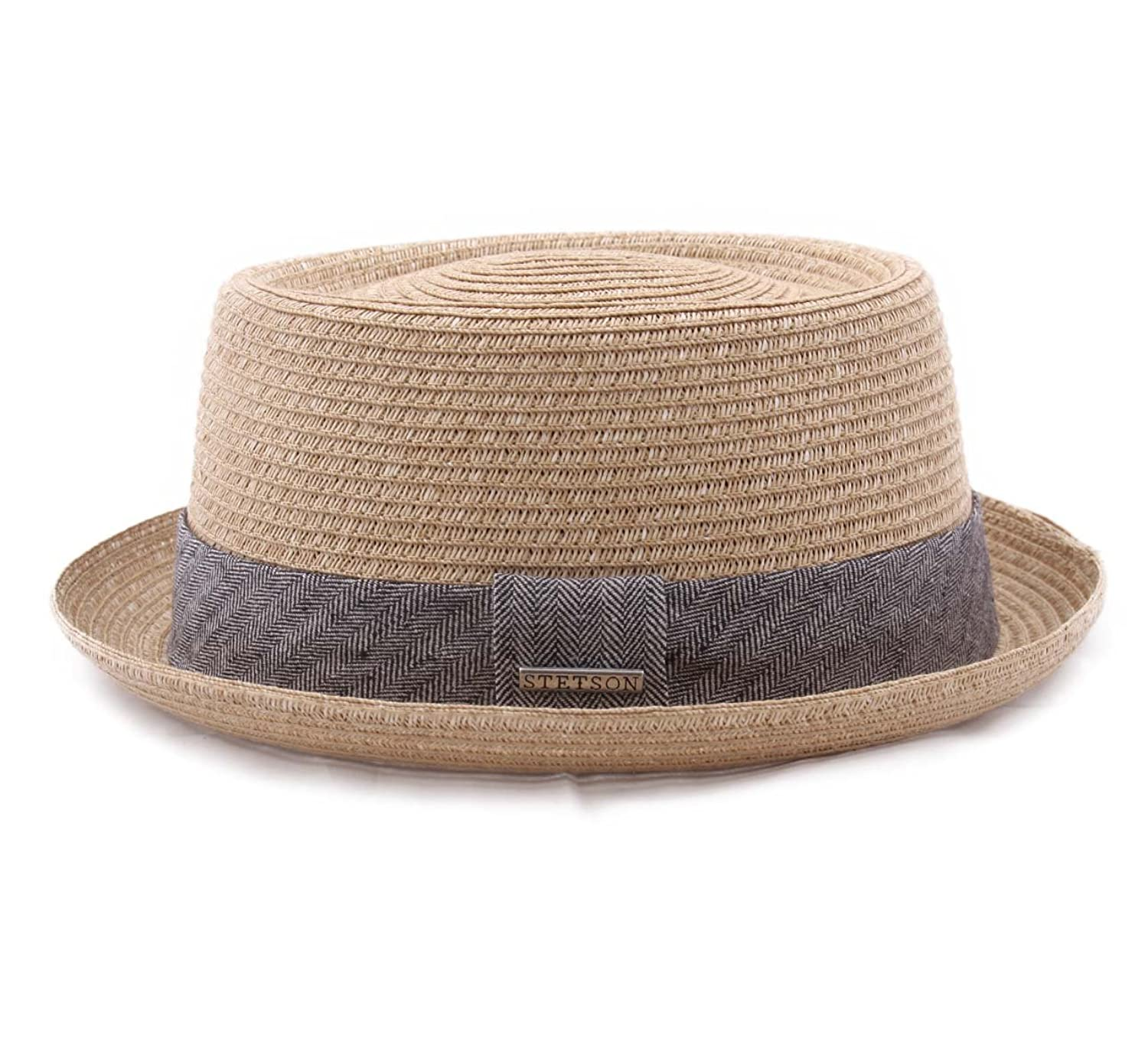 Stetson Hats Robstown Panama-Style Pork Pie Trilby Natural