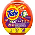 81-Count Tide PODS 3 in 1 HE Turbo Laundry Detergent Pacs
