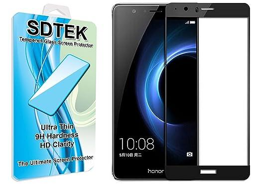 14 opinioni per SDTEK Huawei Honor 8 (Nero) Piena Copertura Vetro Temperato Pellicola Protettiva