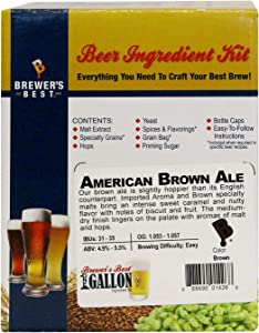 Brewer's Best One Gallon Home Brew Beer Ingredient Kit (American Brown Ale)