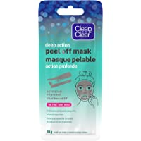 Clean & Clear Deep Action Cleansing & Exfoliating Peel Off Face Mask with Activated Charcoal, Oil Free, 1 Single Use…