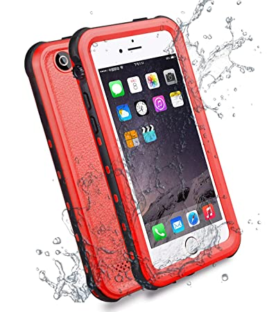 competitive price 44ce4 6c032 HESGI iPhone 5s Case, 6.6 ft Underwater Waterproof Shockproof Snowproof  Dirtpoof Protection Case Cover with Touch ID for iPhone 5S/SE [Red]
