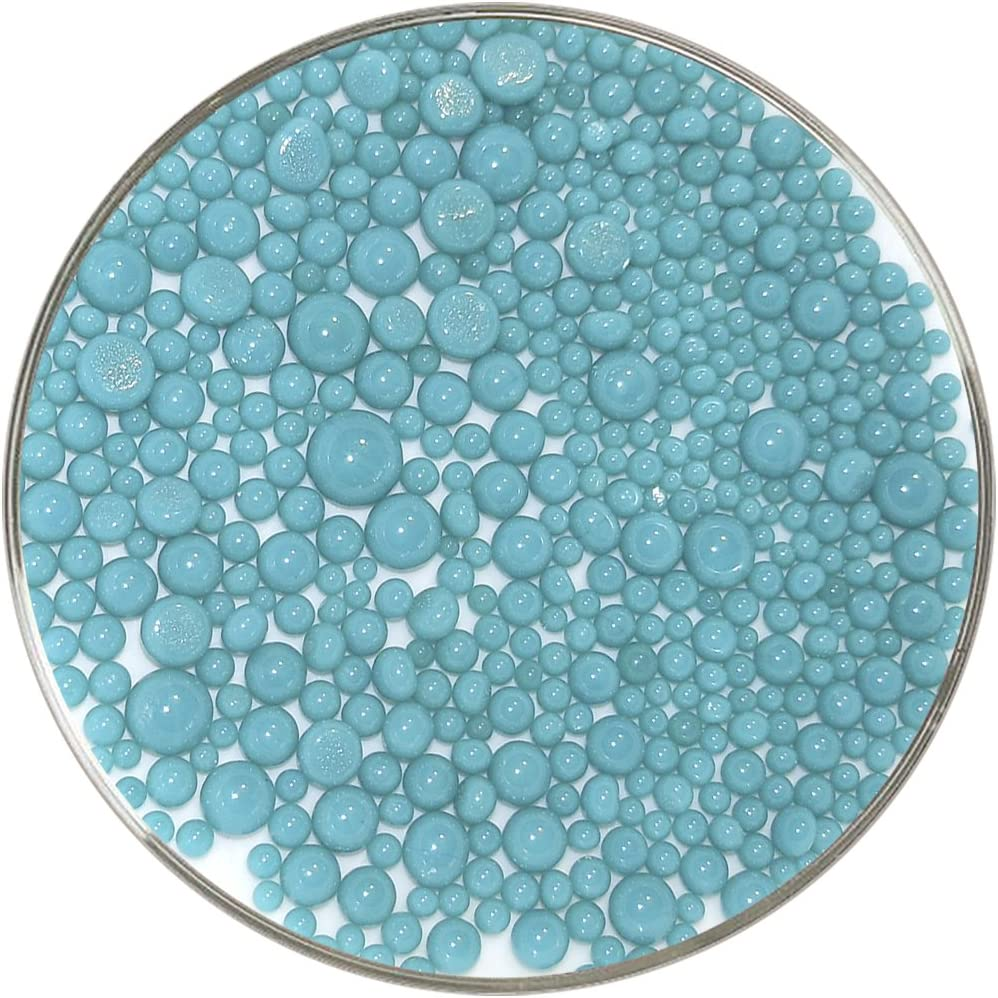 1oz Made from System 96 Glass Champagne Opalescent Frit Balls 96COE