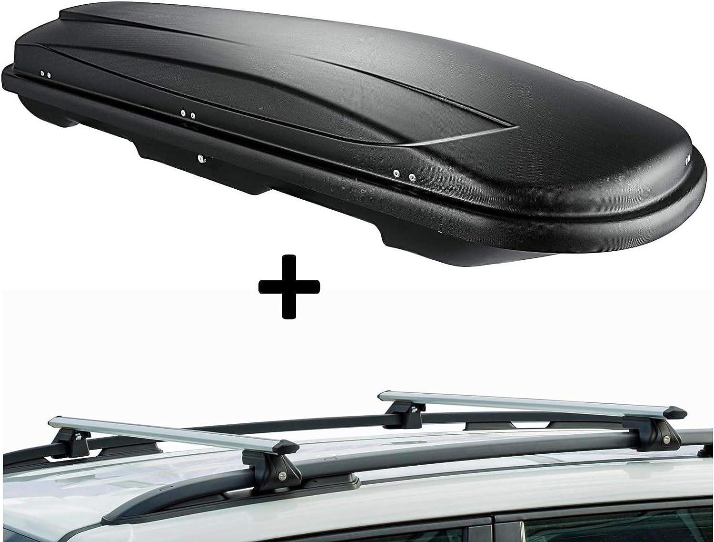 con Barre Portapacchi CRV135 Colore: Nero vdp VDPJUXT500 5 Porte Compatibile con Volkswagen Touran Box da Tetto con Serratura capacit/à 500 Litri dal 2015