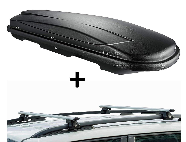 Barres de Toit CRV120 Compatible avec Hyundai Avante SW VDP VDPJUXT500 Coffre de Toit verrouillable Noir /à partir de 1996 5 Portes