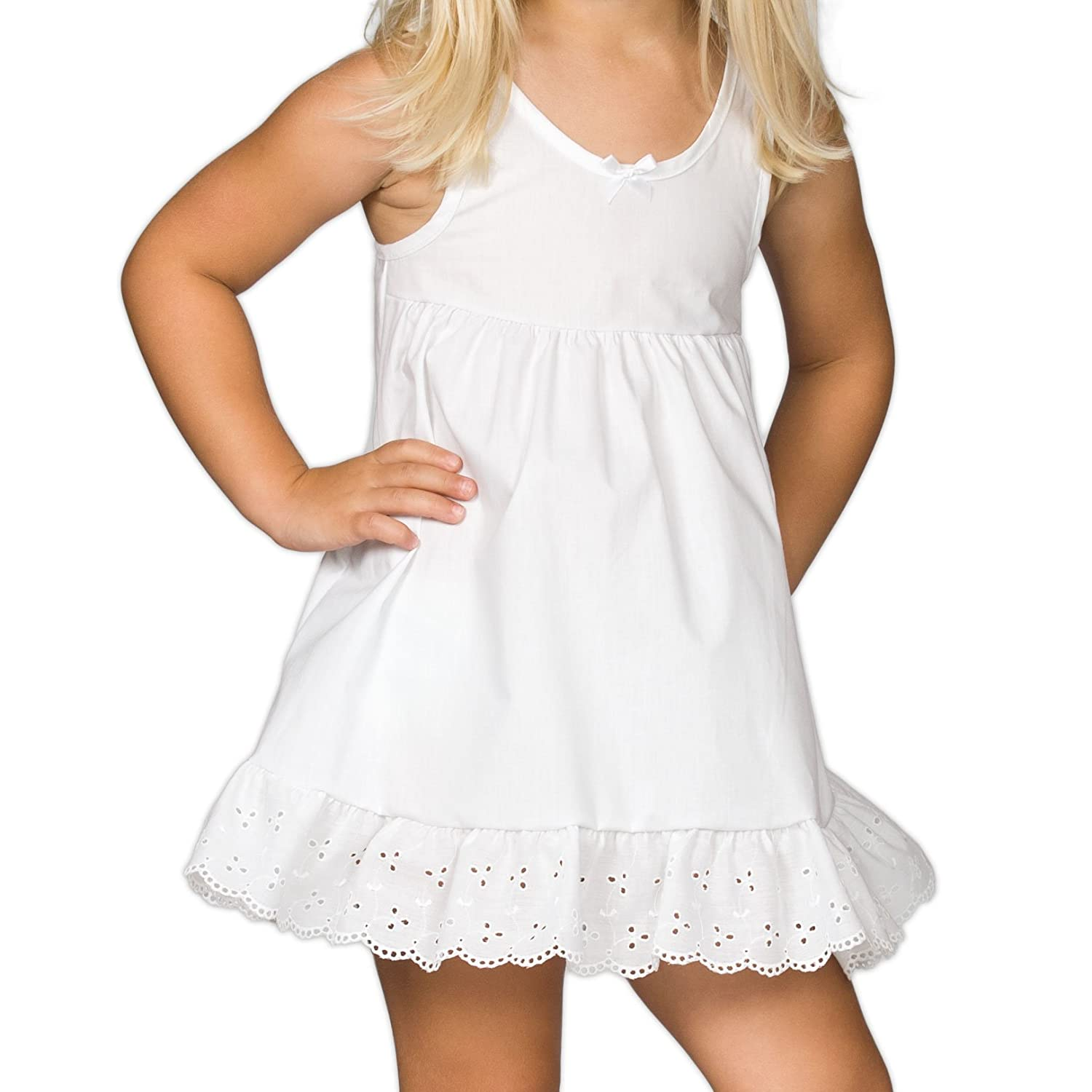 I.C. Collections Baby Girls White Adjustable Tea-Length Slip, 18m New ICM 000205-WHA
