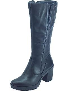Igi&Co 4162700 Scam. Super Nero Stivali Donna in camoscio arricciato con lampo