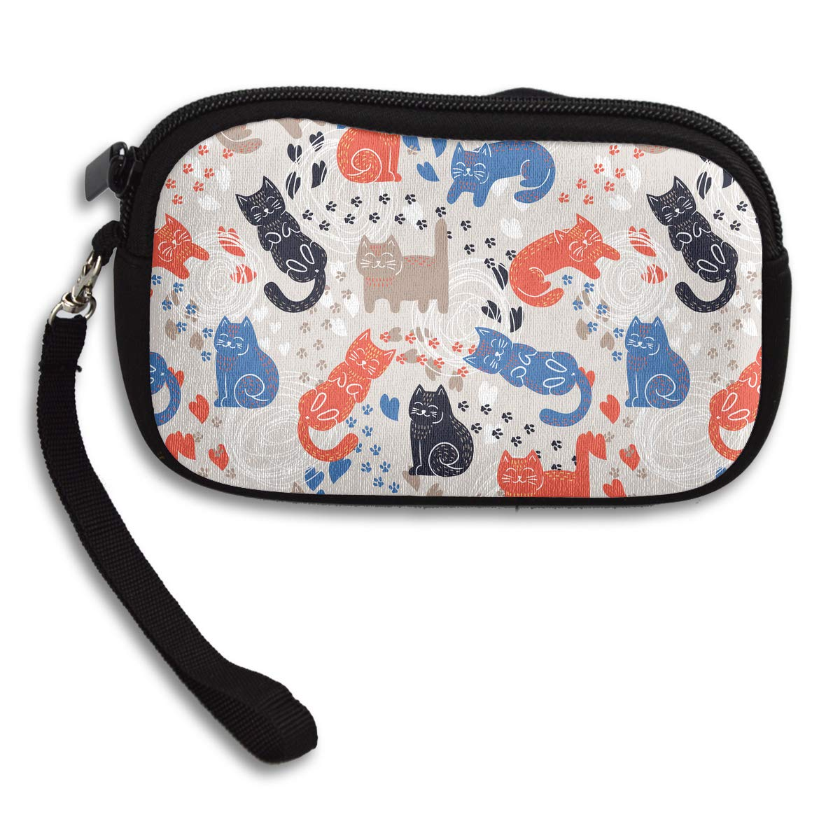 Cute Funny Cats Coin Purse Unique Change Purse,Make Up Bag,Cellphone Bag With Handle Purses For Women