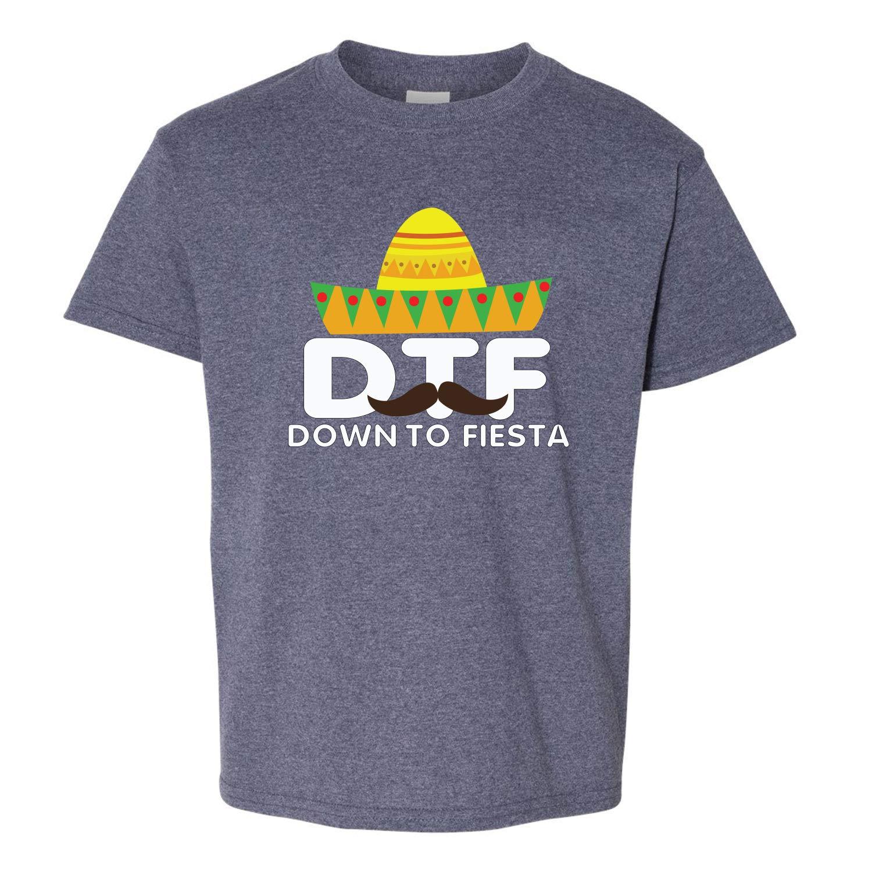 DTF Down to Fiesta Cinco De Mayo Girls Kid Sized Graphic T-Shirt