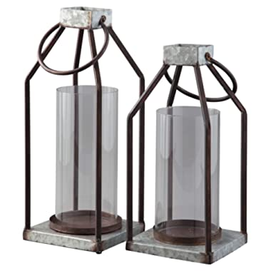 Ashley Furniture Signature Design - Deidrick Lantern - Set of Two - Casual - Gray/Black