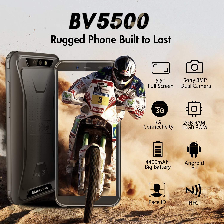Amazon.com: Blackview BV5500 GSM IP68 - Teléfono móvil ...