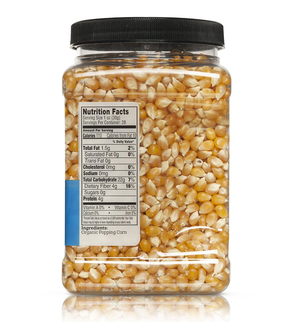 Franklin's Organic Popping Corn (28 oz). Make Movie Theater Popcorn at Home. by Franklin's Gourmet Popcorn (Image #1)