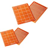 Haobase 10pcs Solder Finished Prototype PCB for DIY 5x7cm Circuit Board Breadboard