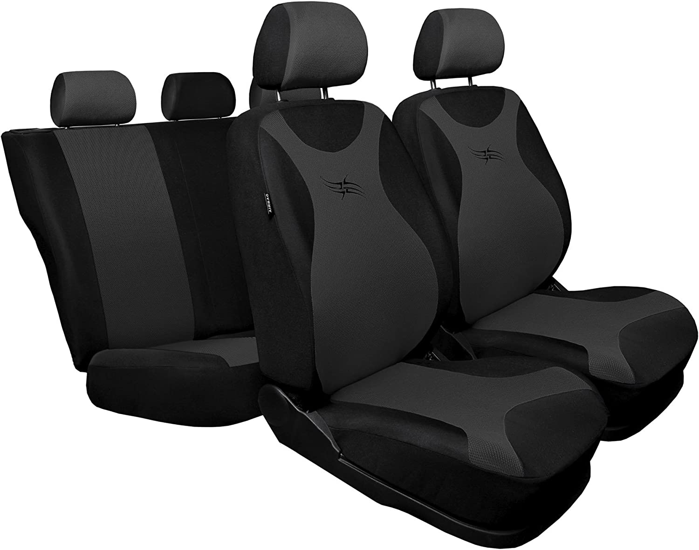 Universal Grau Sitzbez/üge Komplettset Sitzbezug f/ür Auto Sitzschoner Set Schonbez/üge Autositz Autositzbez/üge Sitzauflagen Sitzschutz Turbo Saferide