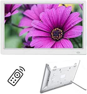Digital Photo Frame 13 Inch IPS Screen Digital Photo Frames with USB SD Card Slots and Remote Control Digital Picture Frame HD 16:9 Widescreen,White