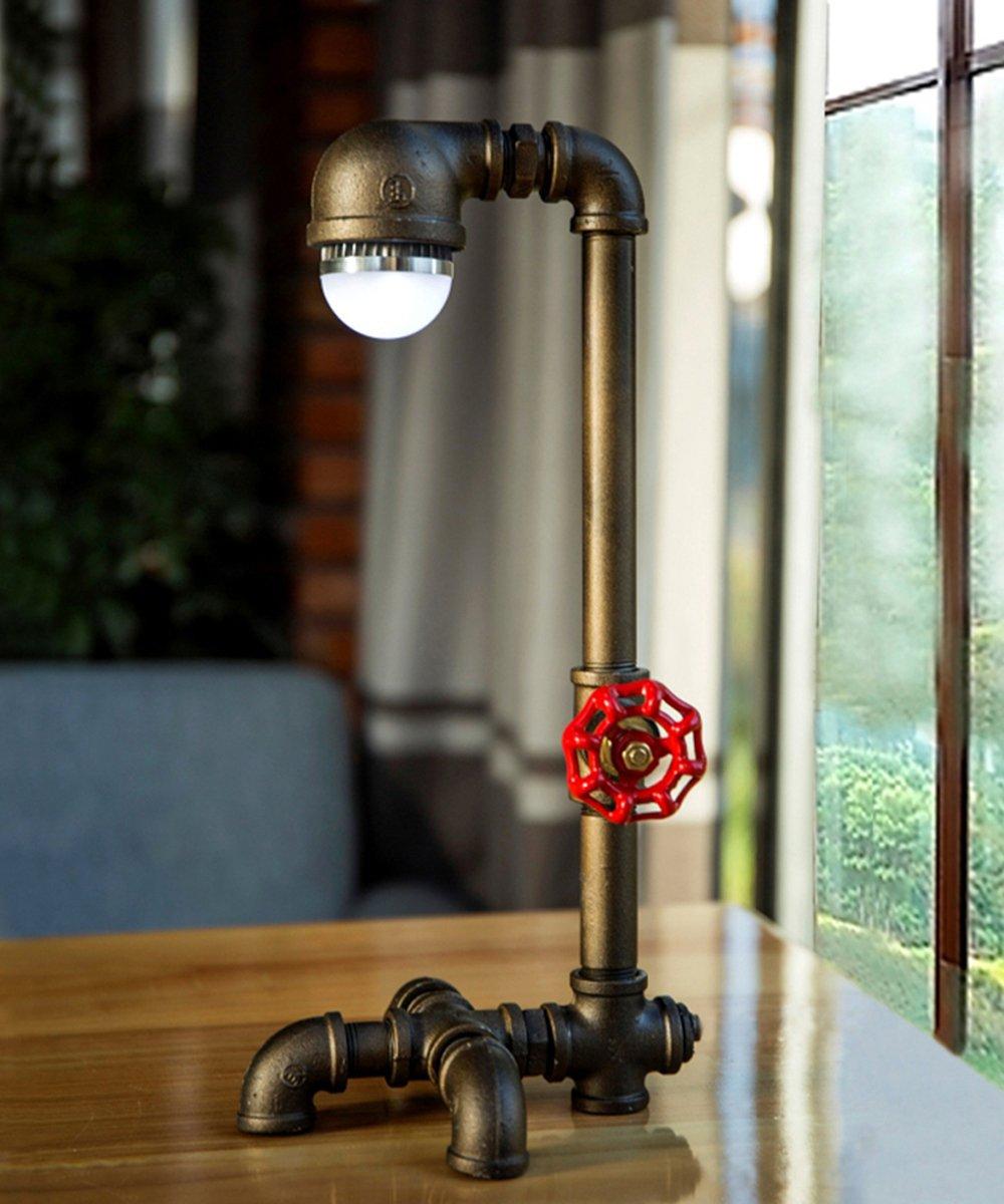 TOFAR Retro Style Industrial Edison Table Lightled, Light Fixture With Decorative Lighting