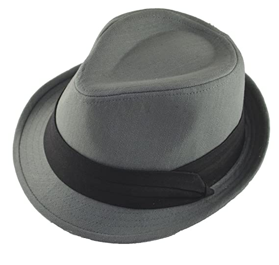 Cotton Fedora Black Band S M Charcoal Gray Grey at Amazon Men s ... 39f24c146c7