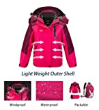 Wantdo Girl's Winter 3 in 1 Snowboarding Warm