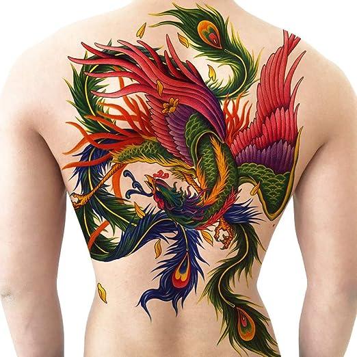 3 Unids-nuevo pegatinas de tatuaje con respaldo completo Phoenix ...