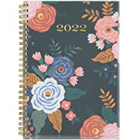 """2022 Weekly & Monthly Planner by Mead, 5-1/2"""" x 8-1/2"""", Small, Customizable, Caprice, Navy Floral (1319N-201)"""