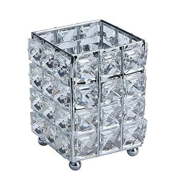 Amazon Com Crystal Candle Holders Cosmetic Storage Tube Pen Holder