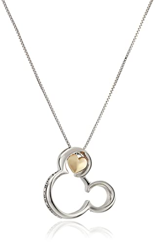 "Disney Sterling Silver and 10k Gold Mickey Mouse ""If you Can Dream It you Can Do It"" Penda..."