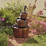 Kotulas 3-Tier Wooden Water Fountain with Pump For Sale