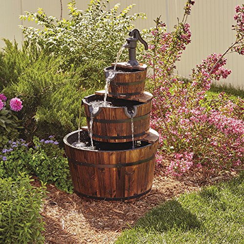 3-Tier Wooden Water Fountain with Pump by Kotula's