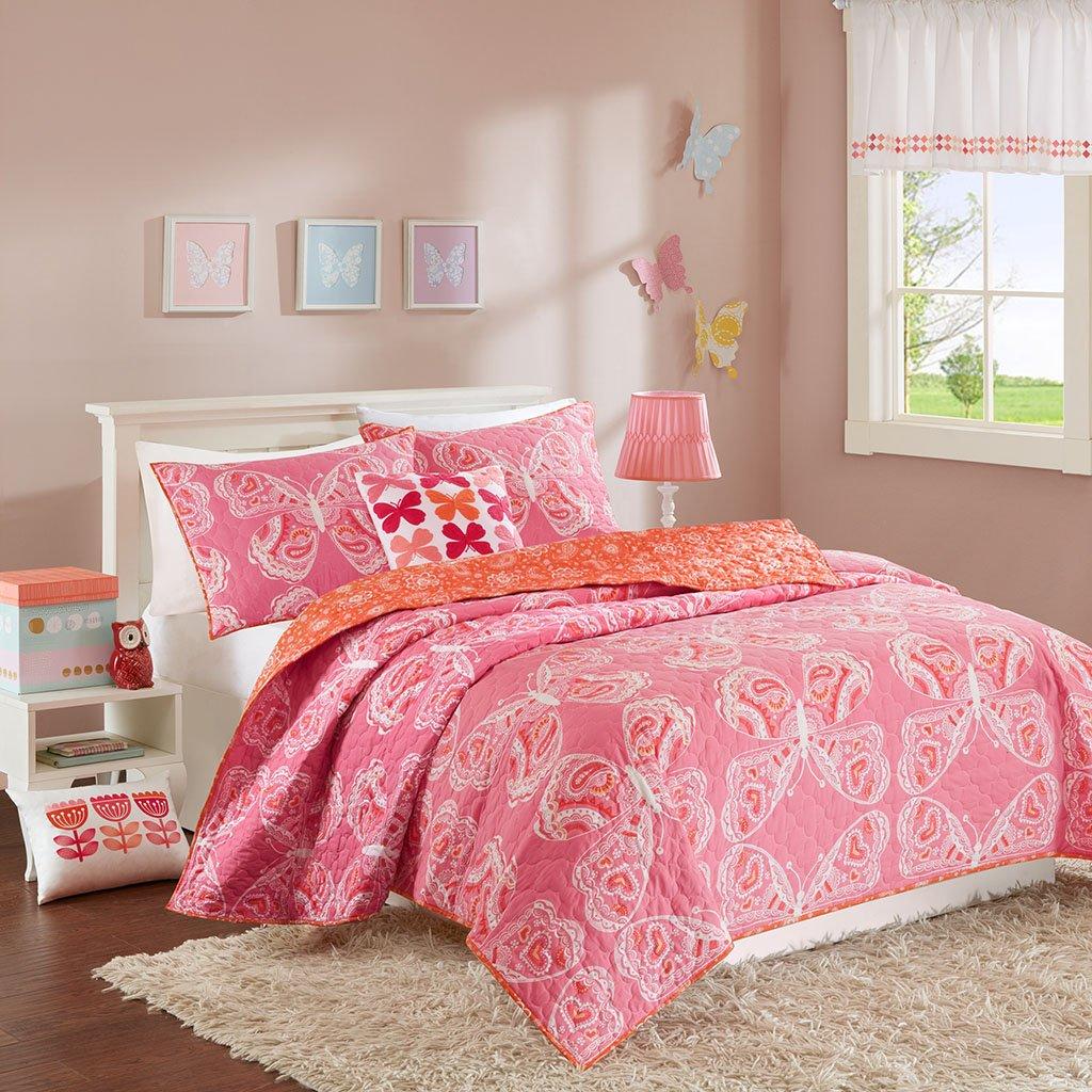INK+IVY Kids Julia Coverlet Set Pink Full/Queen