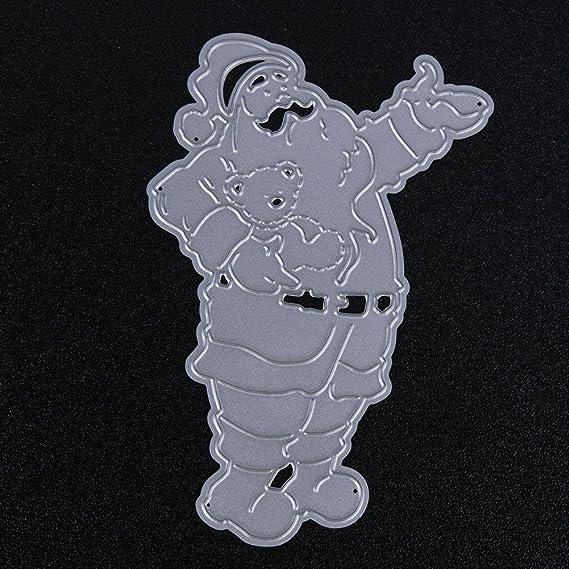 59161e5c8631 Youn Père Noël de coupe Dies Pochoirs Scrapbooking gaufrage DIY Craft Album  carte