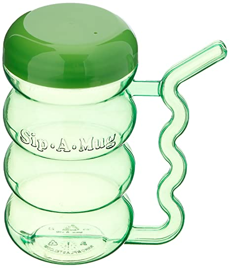 Qkiss Double Handle Mug Lightweight Water Drinking Cup Spill-proof Sippy Cup for Children Elderly