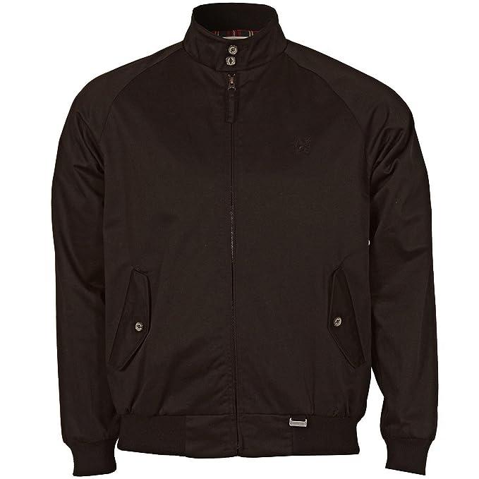 Lambretta: chaqueta Harrington clásica de hombre (negra ...