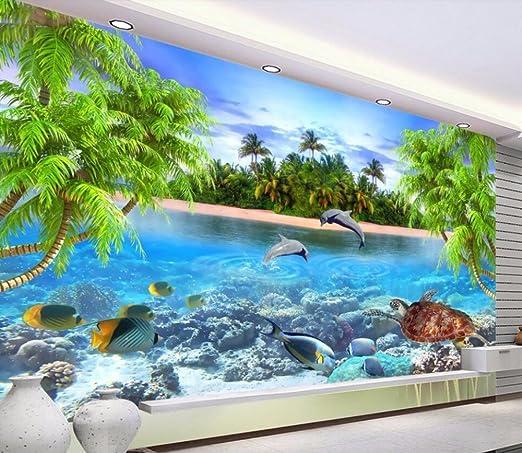 Lmopop Papel Tapiz De La Habitación 3D Playa Del Mar Tortuga ...