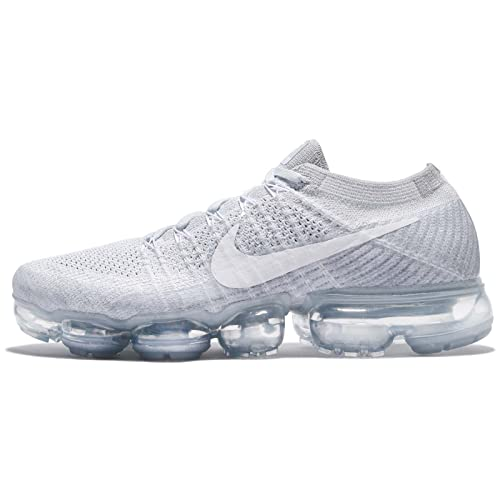 newest 8aade 3091d Nike Womens Air Vapormax Flyknit Platinum White Fabric Size 9
