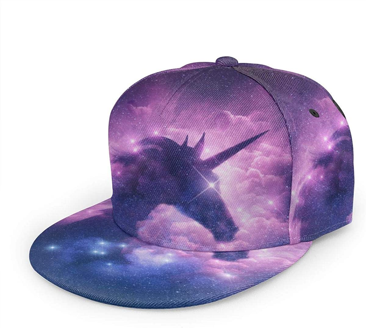 Unicorn in The Milky Way Nebula Baseball Cap Quick Drying Mesh Fitness Hat Sports Outdoor Sun Hat Fashion Hats Shade Protection Black