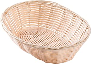 TableCraft Products Gift Basket, Hand-Woven wicker bread, Food Serving Baskets, Oval, Natural Brown, 10 x 6 x 3 Pack of 12