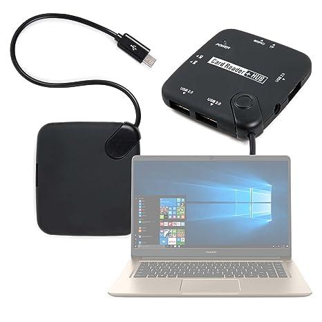 DURAGADGET Lector De Tarjetas + HUB ¡6 en 1! con Conexión Micro USB para