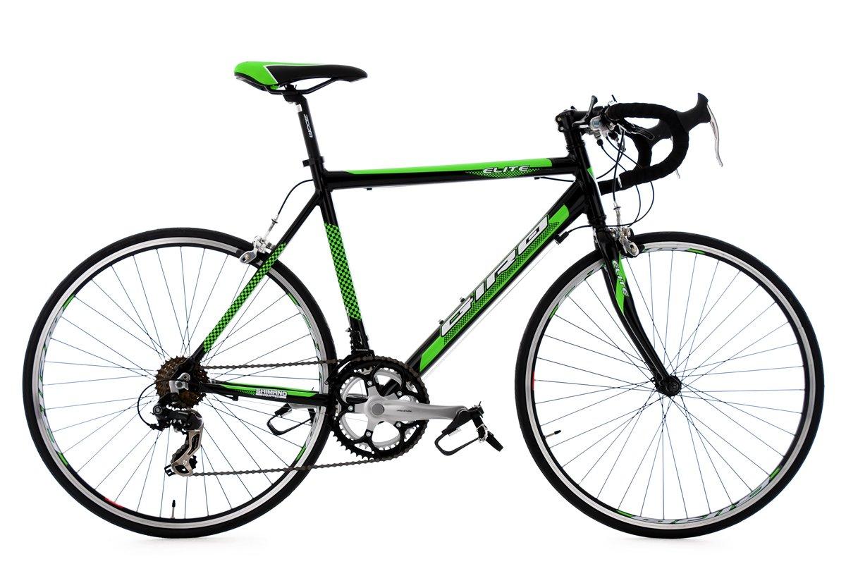 Rennrad 26\'\' Elite schwarz-grün Alu-Rahmen RH 53 cm: Amazon.de ...