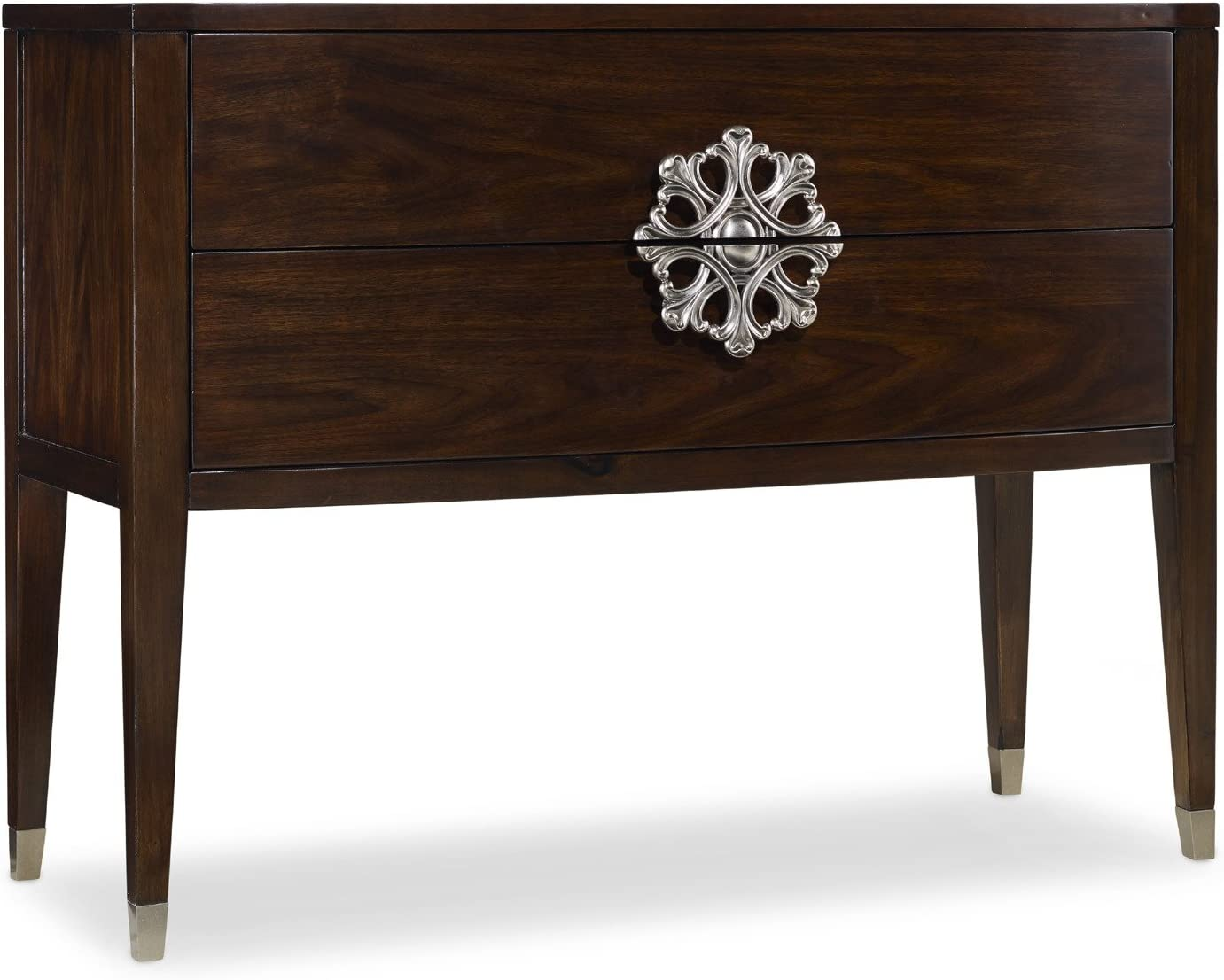 Hooker Furniture Melange 2-Drawer Medallion Console in Walnut