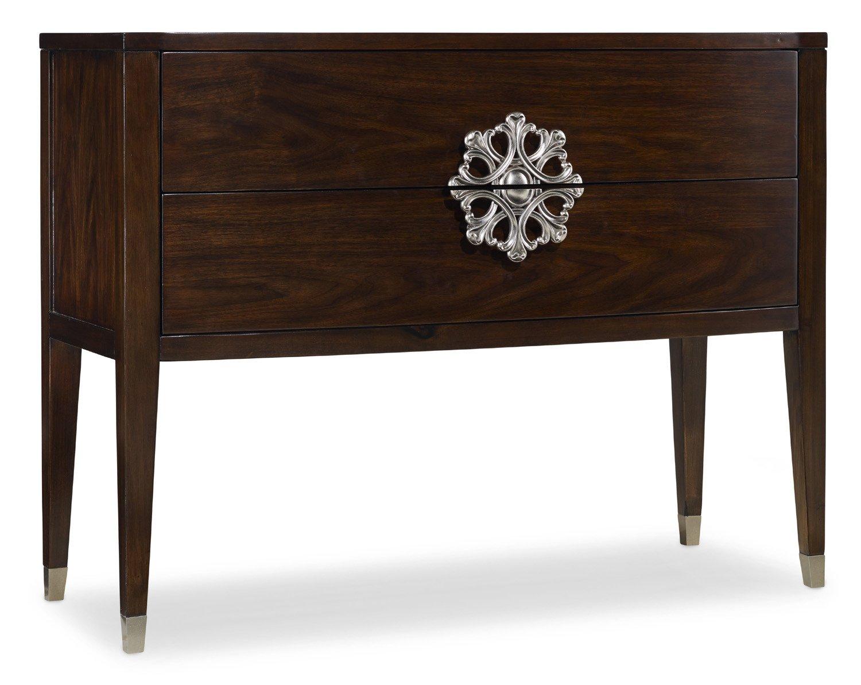 Amazon hooker furniture melange 2 drawer medallion console in amazon hooker furniture melange 2 drawer medallion console in walnut kitchen dining geotapseo Choice Image