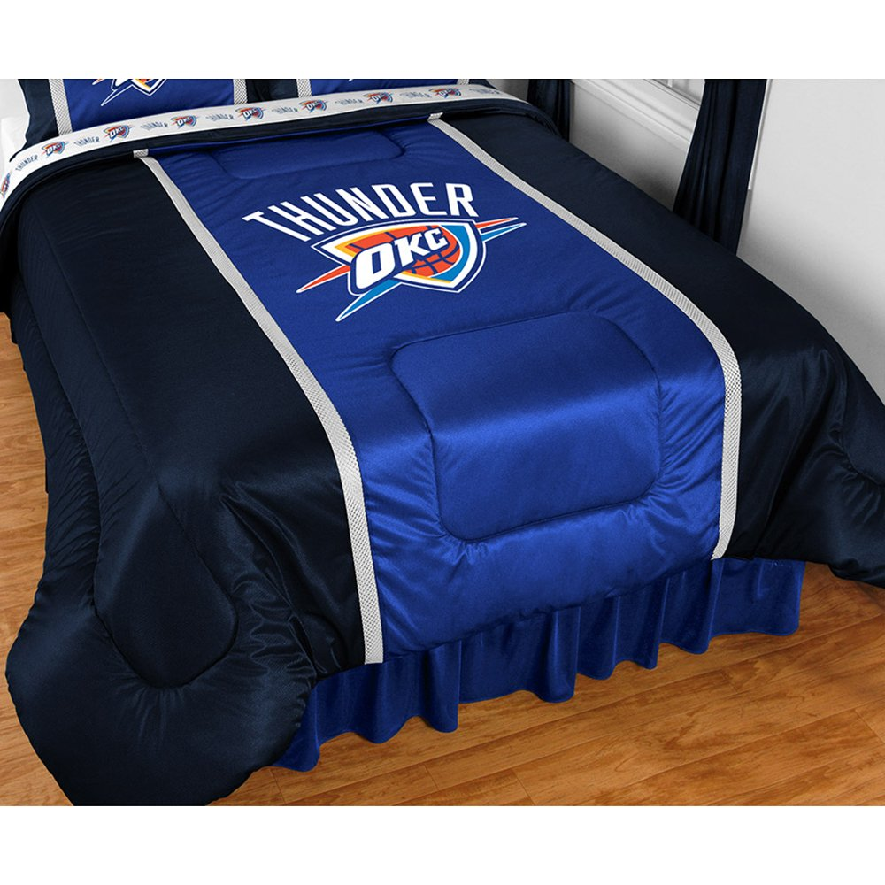 NBA Oklahoma City Thunder Sidelines Comforter, Twin, Bright Blue by Sports Coverage