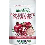 BioFinest Pomegranate Juice Powder - 100% Pure Freeze-Dried Antioxidants Superfood - Usda Certified Organic Kosher Vegan Raw Non-Gmo - Boost Digestion Skin Care - For Smoothie Beverage Blend (4 Oz)