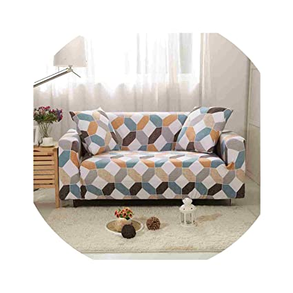 Amazon.com: ACOMY Floral Leaves Printing Sofa Cover Tight ...