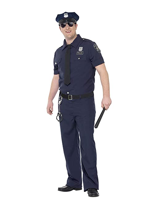 Smiffys Mens Plus Size NYC Cop Costume